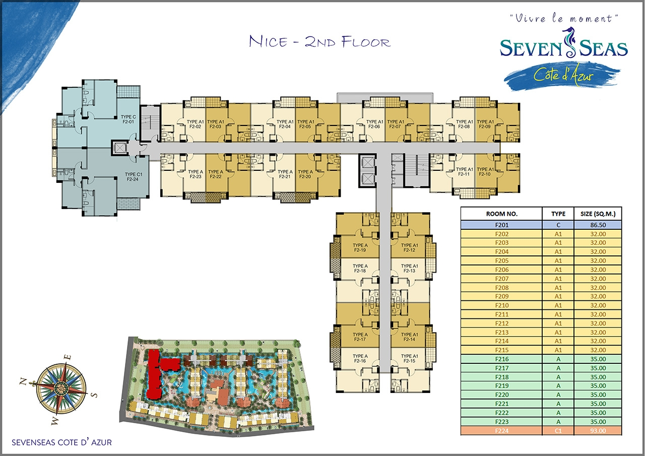 Seven seas c te d 39 azur buy new condo in pattaya na for Nice floor plans
