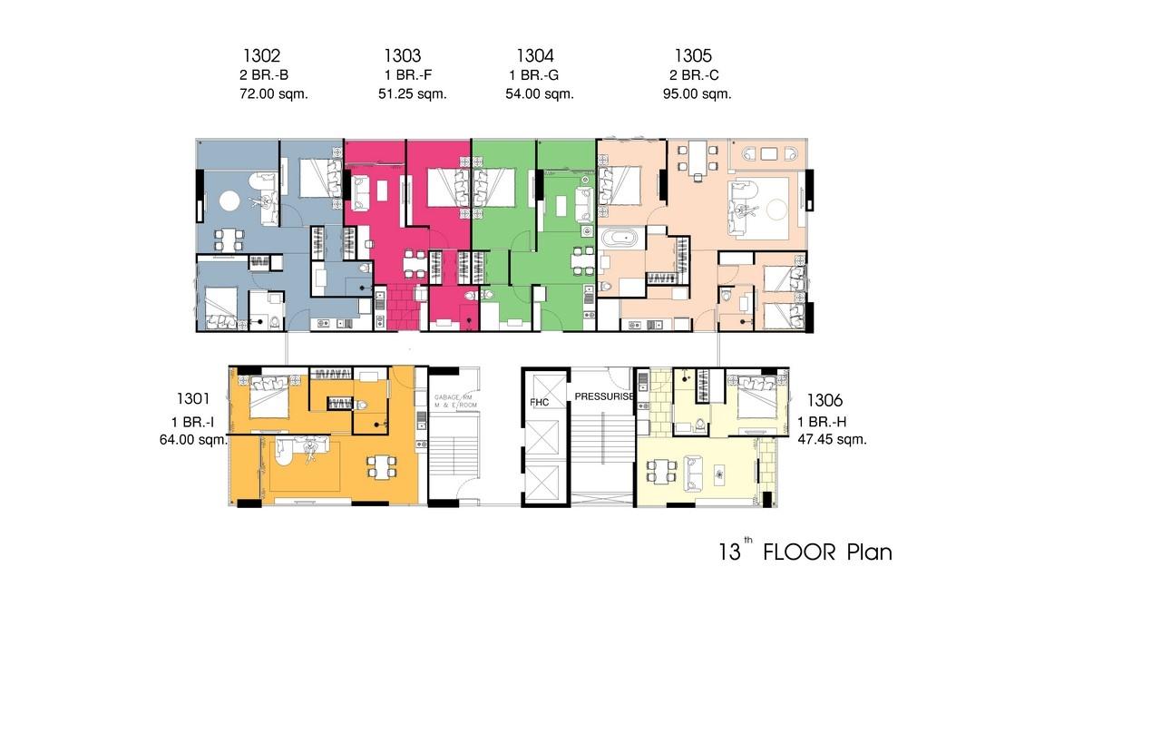 The point pratumnak buy new condo in pattaya pratumnak for 13th floor design