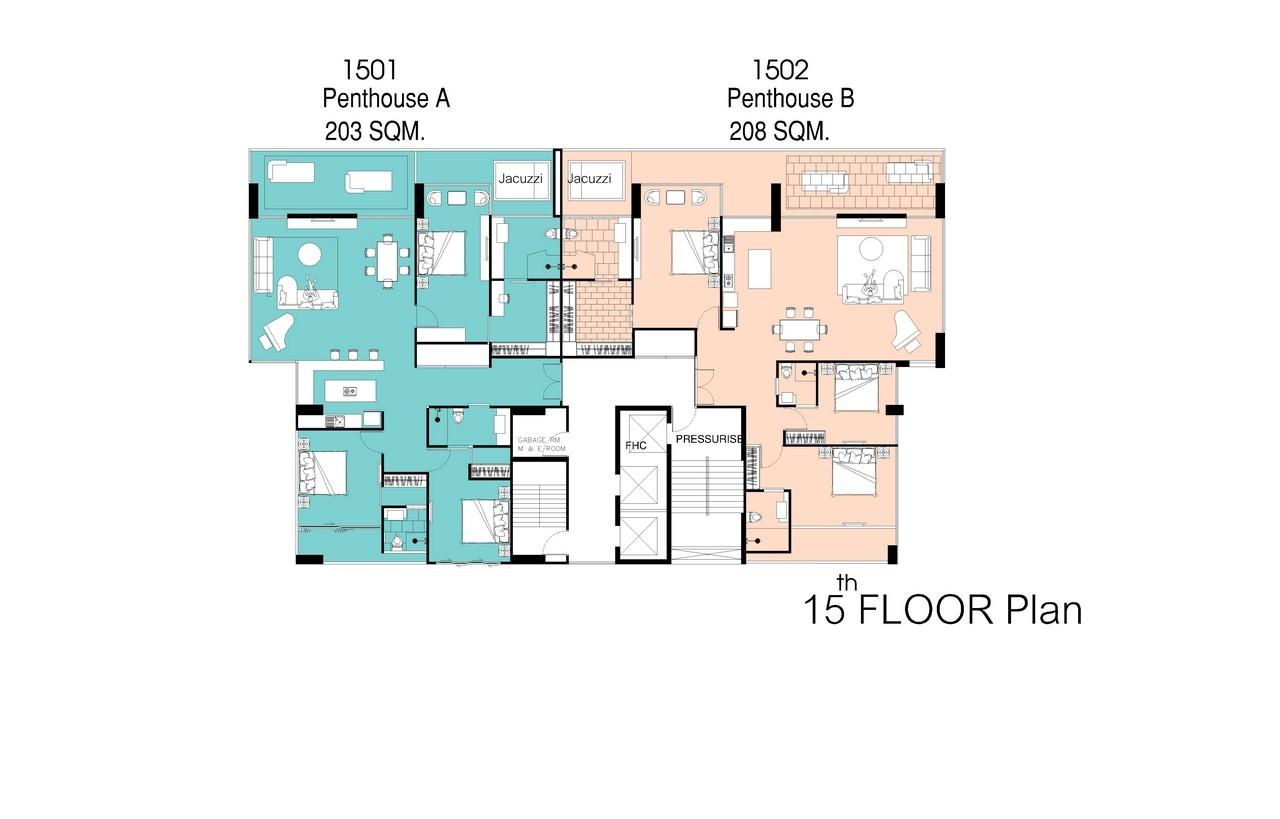 The point pratumnak buy new condo in pattaya pratumnak for 15th floor