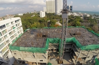 Beach 7 Condominium - aerial photos of construction