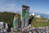 Waterfront Suites & Residences - aerial photos of construction