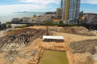 Centara Grand Residence - aerial photos of construction site