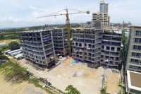 Neo Condo Sea View - construction aerial pictures