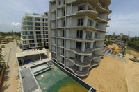 Beach Front Jomtien Residence - construction aerial pictures