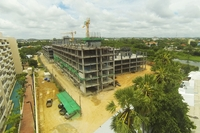 Amazon Residence - construction aerial pictures