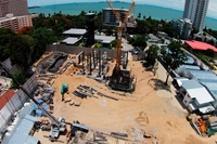 The Riviera Wongamat Beach - construction site