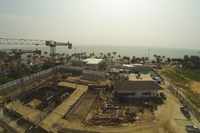 Cetus Beachfront - construction site photos