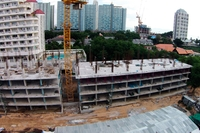 Trio Gems Condominium - construction site