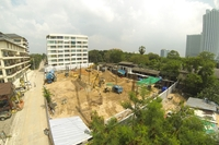Beach 7 Condominium - construction site photos