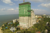 The Palm Wongamat - aerial photos of construction