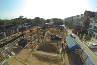 Beach 7 Condominium - aerial photos of construction site