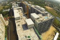 Amazon Residenece - aerial photos of construction site
